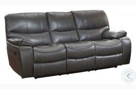 Pecos Gray Power Double Reclining Sofa