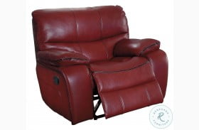 Pecos Red Glider Reclining Chair