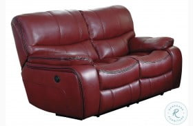 Pecos Red Power Double Reclining Loveseat