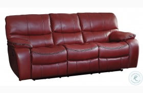 Pecos Red Power Double Reclining Sofa