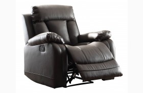 Ackerman Black Reclining Chair