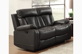 Ackerman Black Double Reclining Loveseat