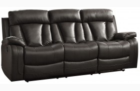 Ackerman Black Double Reclining Sofa