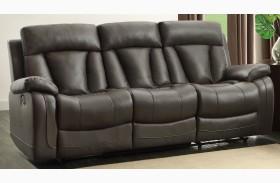 Ackerman Grey Double Reclining Sofa