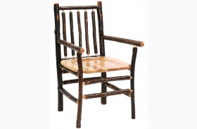 Hickory Spoke Back Arm Chair