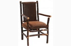 Hickory Standard Fabric Upholstered Back Arm Chair