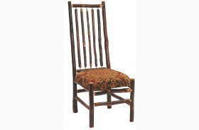Hickory Standard Fabric High Back Spoke Back Side Chair