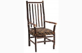 Hickory Standard Fabric High Back Spoke Back Arm Chair