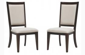 Brighton Merlot Side Chair Set of 2