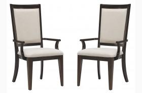 Brighton Merlot Arm Chair Set of 2