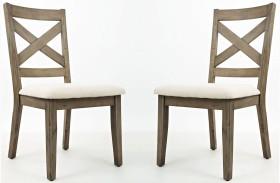Hampton Road X Back Dining Chair Set of 2