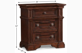 San Marcos 3 Drawer Nightstand