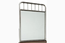 Weatherly Textured Metal Mirror