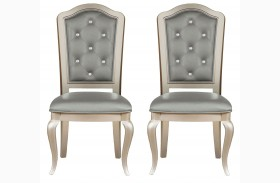 Diva Metallic Side Chair Set of 2