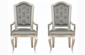 Diva Metallic Arm Chair Set of 2
