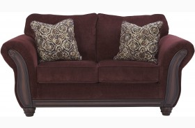 Chesterbrook Burgundy Loveseat