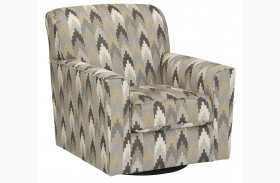 Braxlin Charcoal Swivel Accent Chair