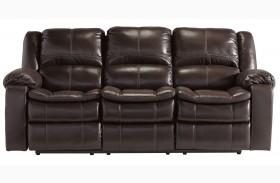 Long Knight Brown Power Reclining Sofa