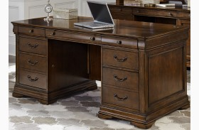 Chateau Valley Brown Cherry Jr Executive Desk