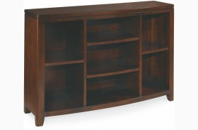 Tribecca Root Beer Bookcase Console
