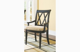 Camden Black Splat Arm Chair