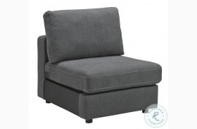 Candela Charcoal Armless Chair
