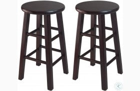 "Pacey Espresso 24"" Bar Stool Set of 2"