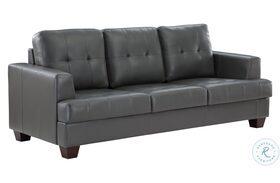 Hinsall Gray Sofa