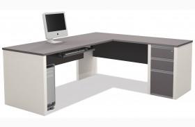 Connexion Slate & Sandstone L-Shaped Desk