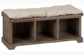 Slater Mill Pine Storage Bench