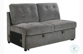 Logansport Gray Armless Loveseat With Pull Out Bed