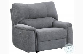 Dickinson Charcoal Power Recliner With Power Headrest