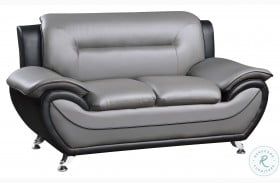 Matteo Gray And Black Loveseat