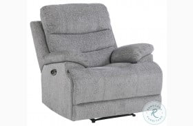 Sherbrook Gray Power Recliner With Power Headrest