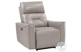Burwell Light Gray Power Reclining Chair
