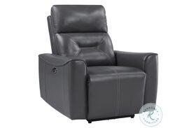 Burwell Gray Power Reclining Chair