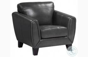 Spivey Dark Gray Leather Chair
