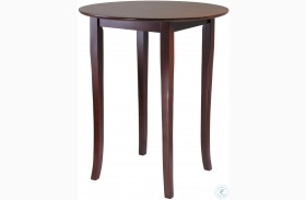 Fiona Antique Walnut Round High and Pub Table