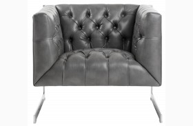 Viper Gray Leather Armchair