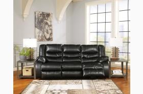 LineBacker DuraBlend Black Reclining Sofa