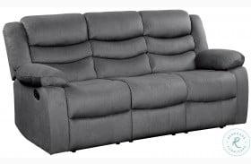 Discus Gray Double Reclining Sofa