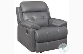 Lambent Dark Gray Leather Reclining Chair