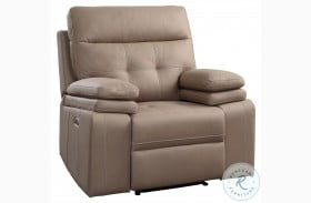 Millington Brown Power Recliner With Power Headrest