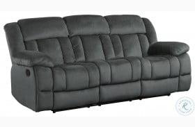 Laurelton Charcoal Double Reclining Sofa