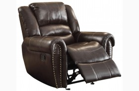 Center Hill Brown Glider Reclining Chair