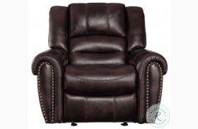 Center Hill Dark Brown Glider Reclining Chair