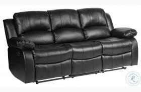 Cranley Black Double Reclining Sofa