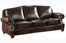 Hyde Brown Leather Sofa
