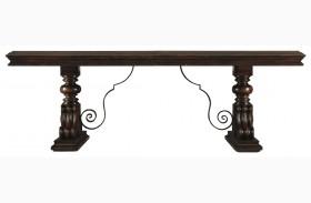 Costa Del Sol Dark Woodtone Palazzo Principale Extendable Marquetry Dining Table