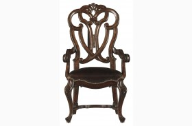 Costa Del Sol Dark Woodtone Messalinas Blessings Arm Chair